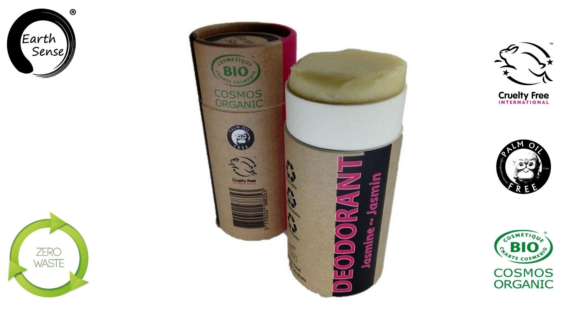 Earth sense organics - Deodorant naturel bio - Jasmin - 100ml