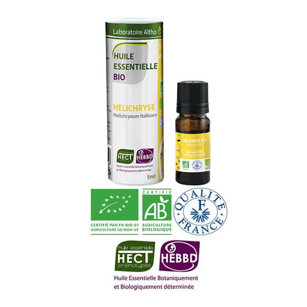 Laboratoire Altho - Helichryse Huile Essentielle Bio Chemotypee - 5ml