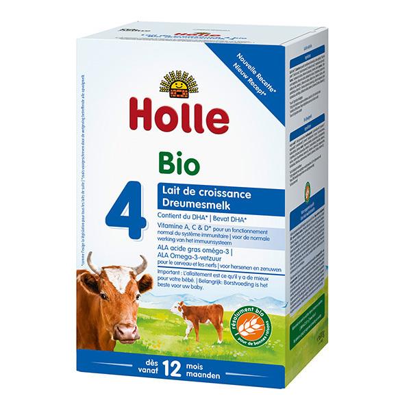 Holle - Lot de 3 Lait de croissance 4 bio 600g - Dès 12 mois