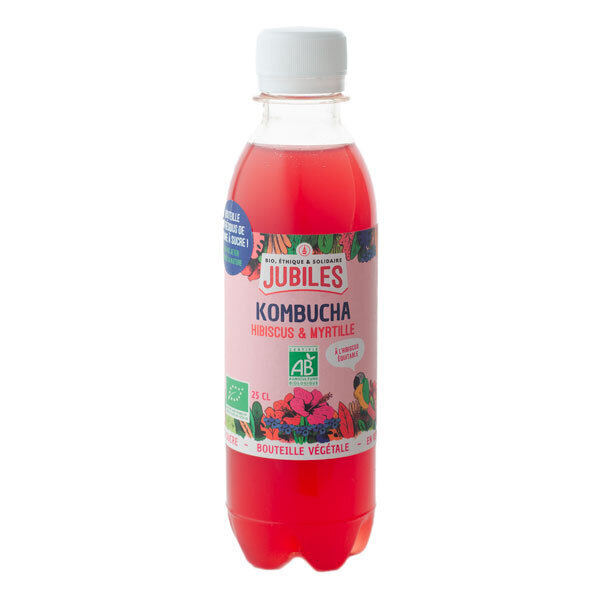 Jubiles - Kombucha hibiscus myrtille 25cl