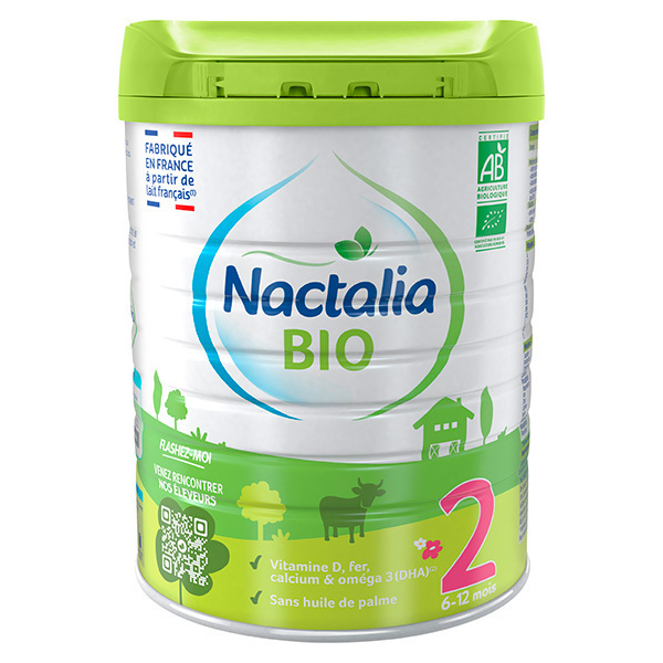 Nactalia BIO - Lot de 3 Nactalia Bio Lait bio infantile 2ème Age 6-12 moi