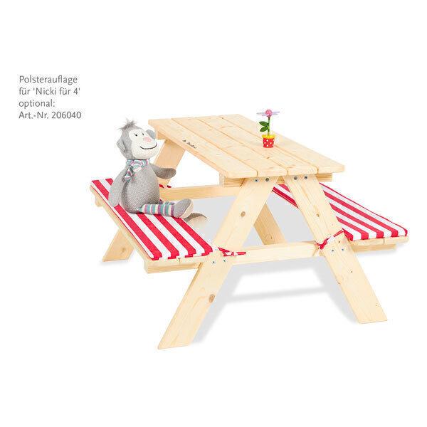 Pinolino - Ensemble table et bancs Nicki en bois