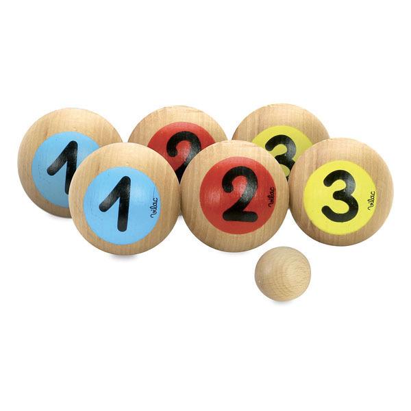 Vilac - Sac 6 Boules de Pétanque 1,2,3 - Dès 3 ans