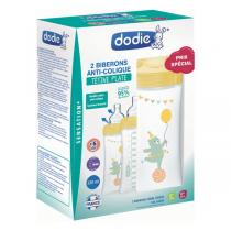 Dodie - Lot de 2 biberons anti-colique Sensation+ 330ml CIRQUE +6m