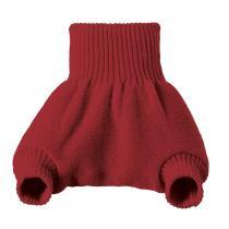 DISANA - Culotte de protection bordeaux en laine Mérinos 3-6 mois