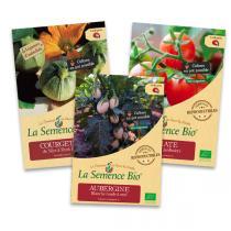 La Semence Bio - Lot de 3 sachets de Graines de légumes