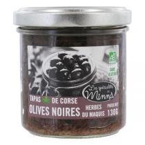 Les spécialités de Minnà - Tapas d'olives noires aux herbes du Maquis 130g