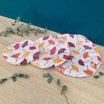 Les Trucs de Laura - Lot de 3 recouvre-bols coton bio Ginkgo
