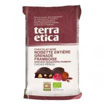 Terra Etica - Chocolat noir, noisettes, grenade et framboise 100g
