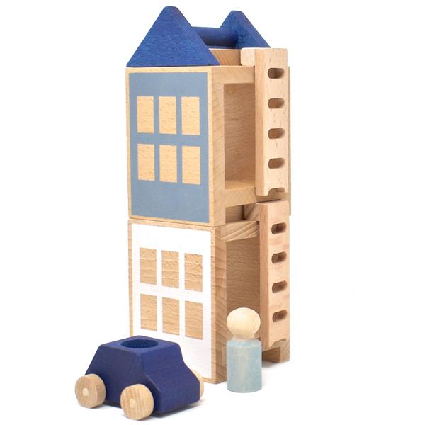 LUBULONA - Jeu de construction Petite ville d'Hiver