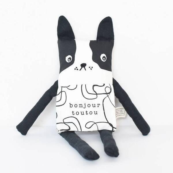 WEE GALLERY - Doudou poupée livre - Flippy friend - Wee Gallery