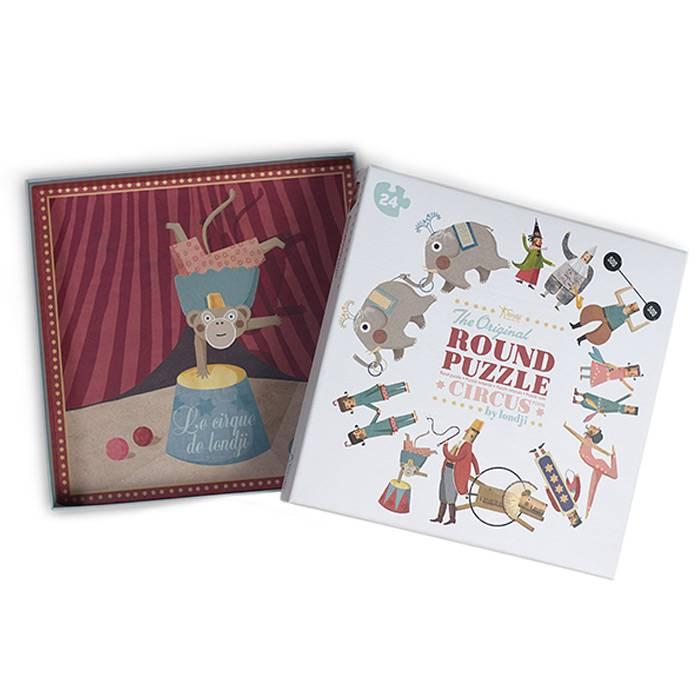 Londji - Puzzle rond Circus 24 pièces