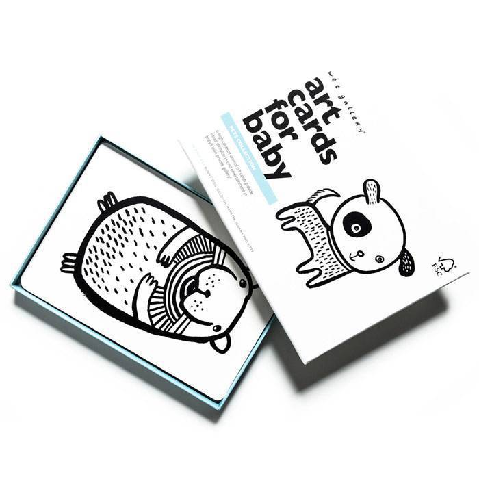 WEE GALLERY - Cartes imagier animaux - Domestiques