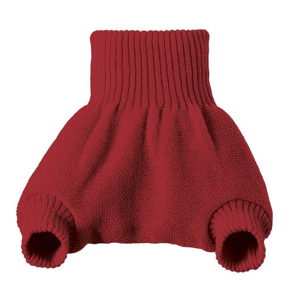 DISANA - Culotte de protection bordeaux en laine Mérinos 12-24 mois