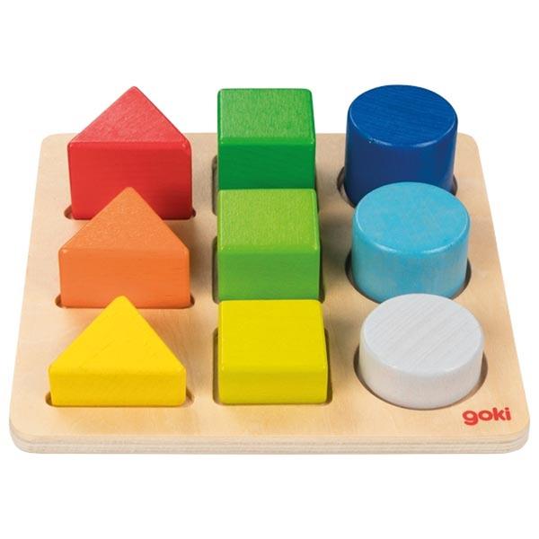 Goki - Petit plateau des formes géométriques colorées