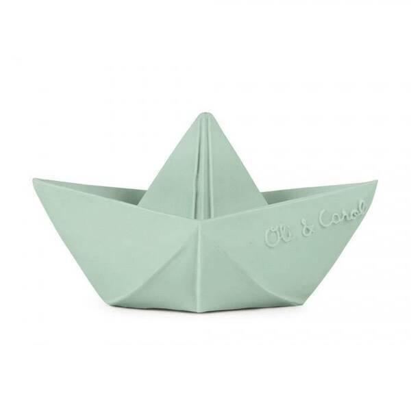 Oli&Carol - Bateau origami Vert - Jouet de bain - Oli & Carol