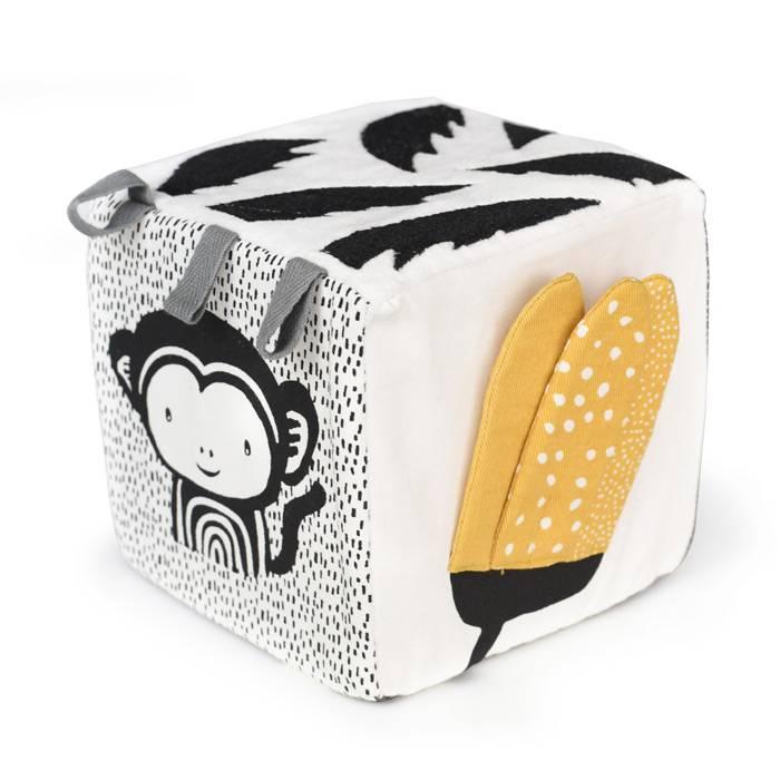 WEE GALLERY - Cube en tissu sensoriel - Jungle
