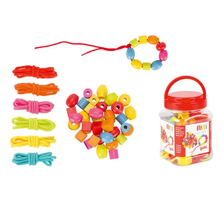 Goki - Set de 45 perles