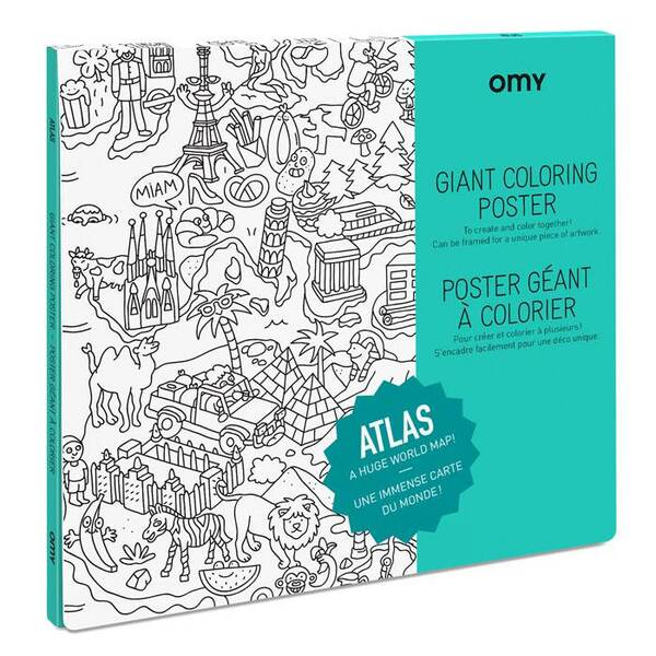 OMY - Poster à colorier - Atlas