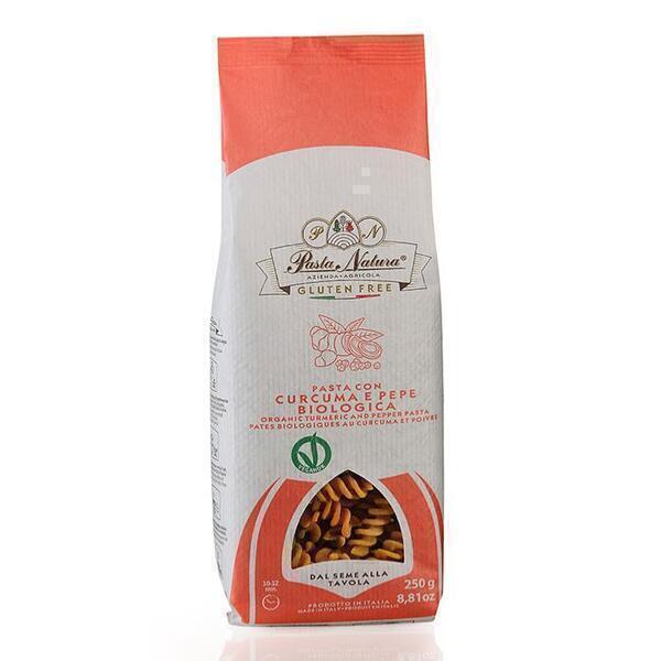 Saveurs de Tosca - Pâtes BIO au curcuma et poivre Pasta Natura - Fusilli - 250 gr N