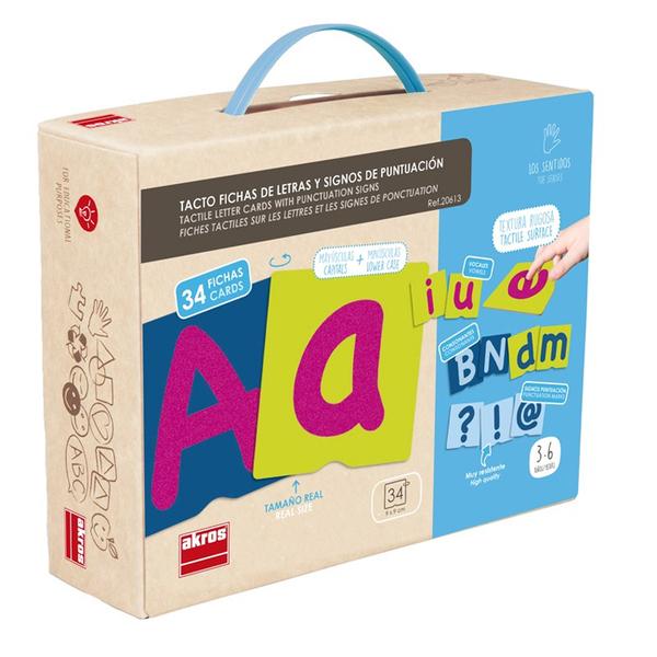 AKROS - Cartes rugueuses : lettres et ponctuation