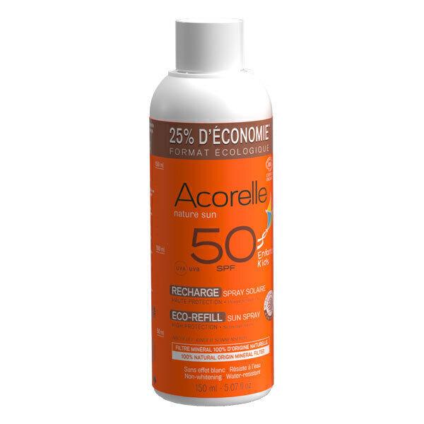 Acorelle - Recharge spray solaire enfants SPF50 150ml