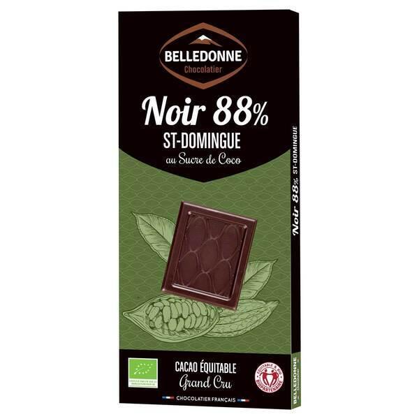 Belledonne - Chocolat noir 88% de St-Domingue au sucre de coco 100g