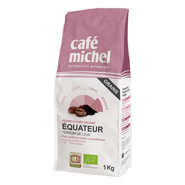 Café Michel - Café grain Equateur arabica pure origine 1kg