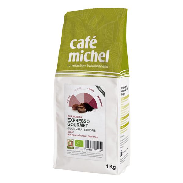 Café Michel - Café grain expresso gourmet pur arabica 1kg