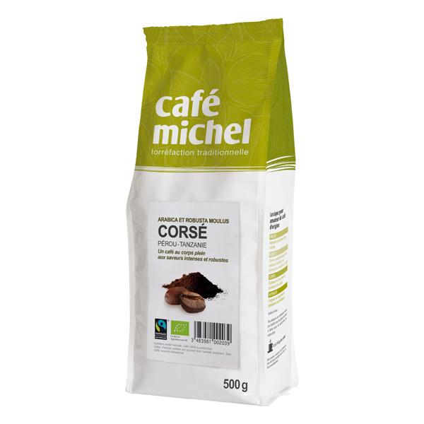 Café Michel - Café moulu corsé arabica et robusta 500g