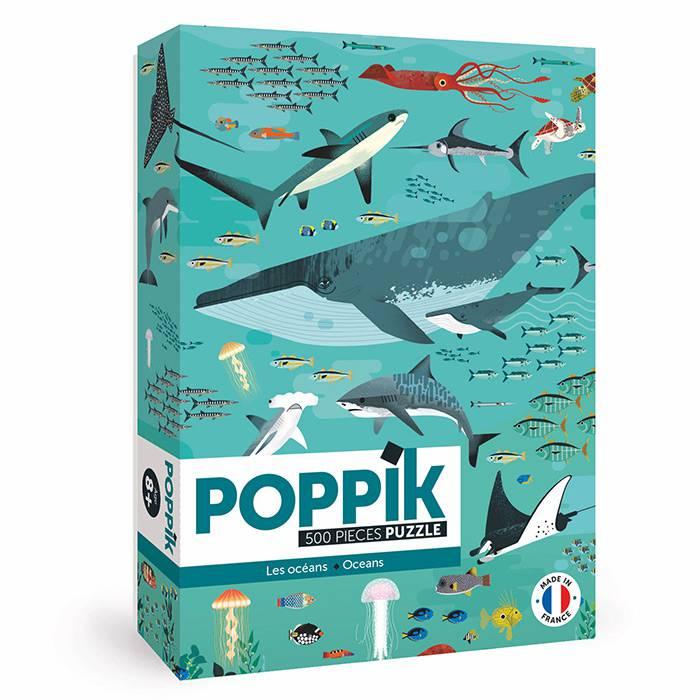 POPPIK - Puzzle Les Océans - 500 pièces - Poppik