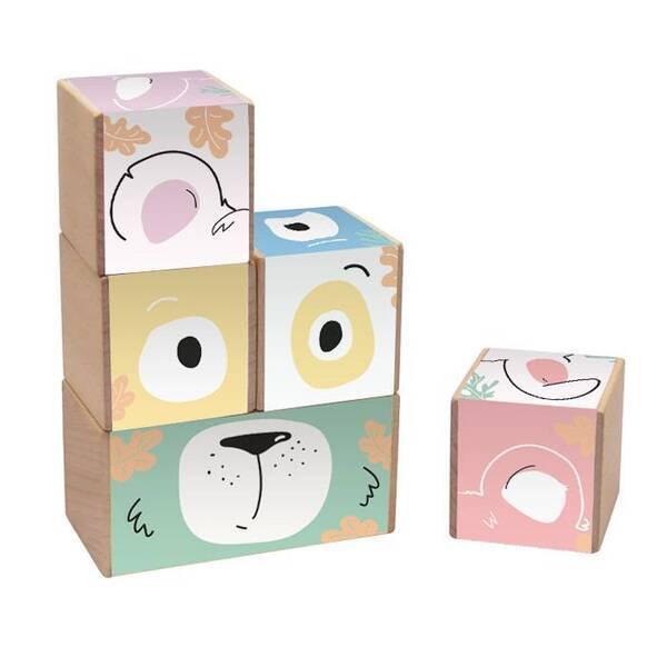 Paulette et Sacha - Les Frimousses - Cubes à empiler - Original
