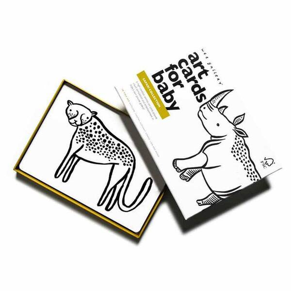 WEE GALLERY - Cartes imagier animaux - Safari