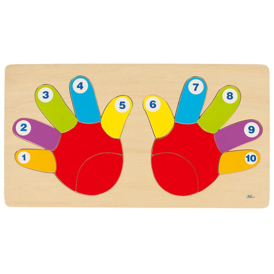 Goki - Puzzle Les doigts de la main 14 pièces