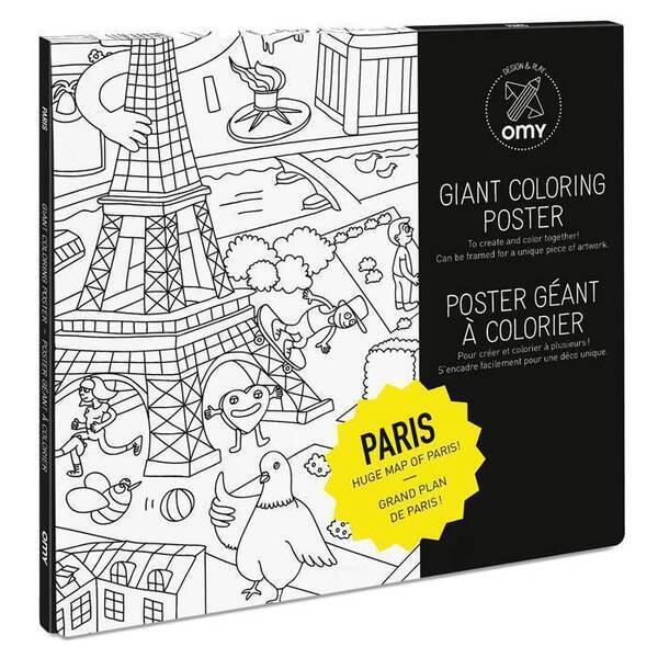 OMY - Poster à colorier - Paris