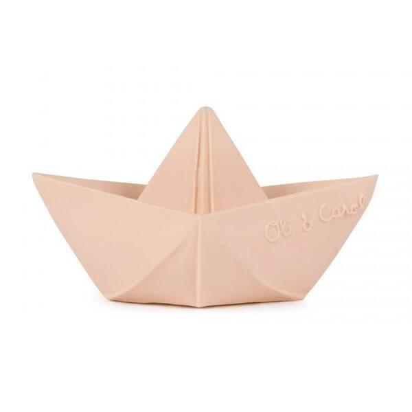 Oli&Carol - Bateau origami Nude - Jouet de bain - Oli & Carol