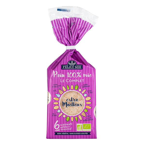 FELICI'MIE - Pain 100% mie Le complet 300g