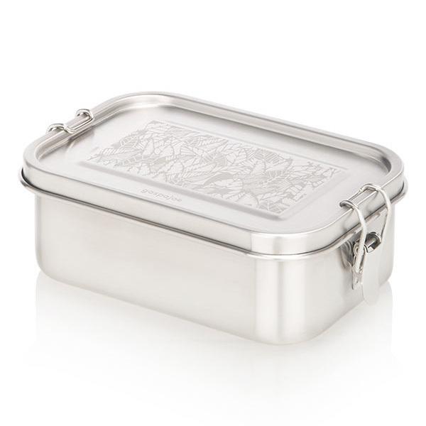 Gaspajoe - Boîte Bento Yummy en inox Feuilles 80cl