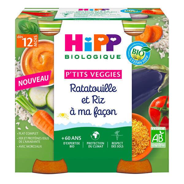 HiPP - Petits pots ratatouille et riz dès 12 mois - 2x250g