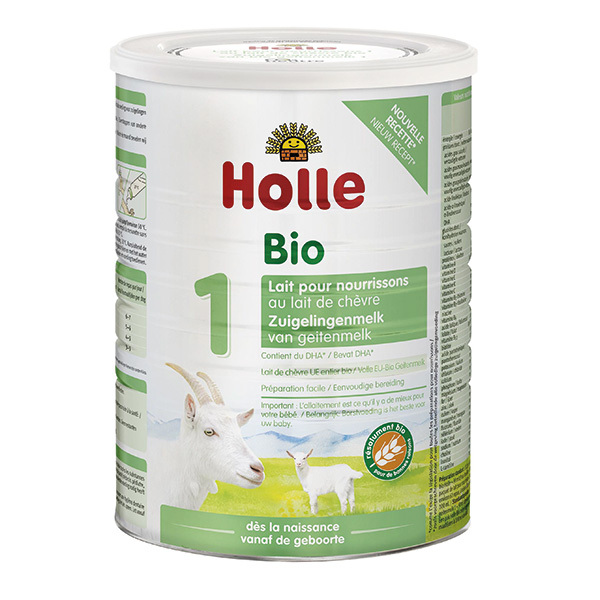 Holle - Lot de 6 Lait de chèvre bio nourrissons 1er âge 800g
