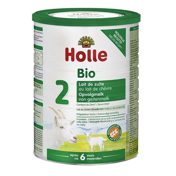 Holle - Lot de 3 Lait de chèvre infantile bio 2ème âge 800g - Dès