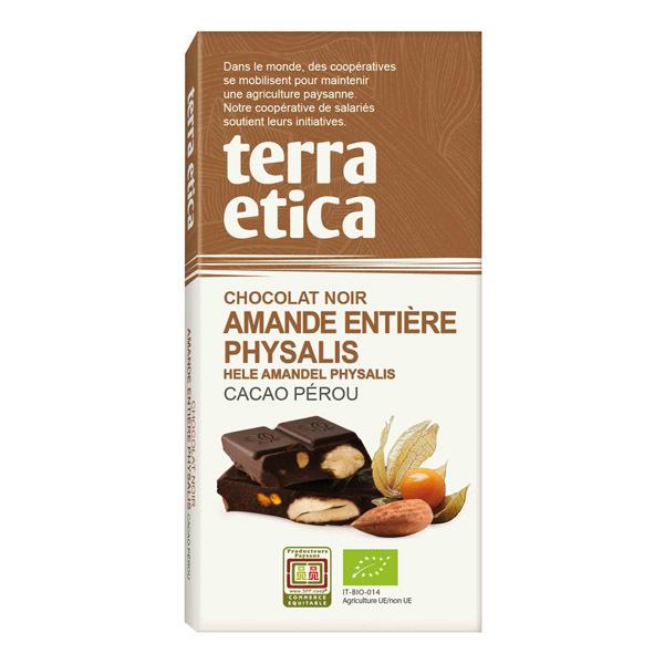 Terra Etica - Chocolat noir, amandes entières et physalis 100g