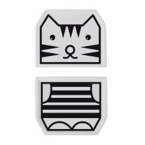 WEE GALLERY - Duo d'assiette porcelaine Tigre