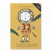 WEE GALLERY - Cahier d'activité - Animaux sauvages - 32 ways to dress