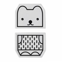 WEE GALLERY - Duo d'assiette porcelaine Ours