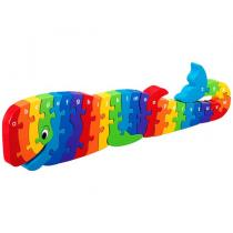 LANKA KADE - Puzzle en bois Alphabet Baleine