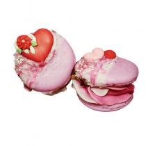 Les Trésors d'Yggdrasil - Savon macaron rose patisavon 100% naturel