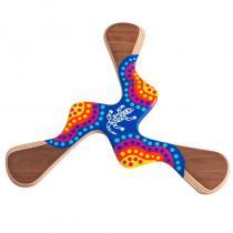 Wallaby Boomerang - Boomerang peint à la main Kadina