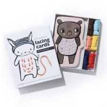 WEE GALLERY - Cartes à lacer - Bébés animaux