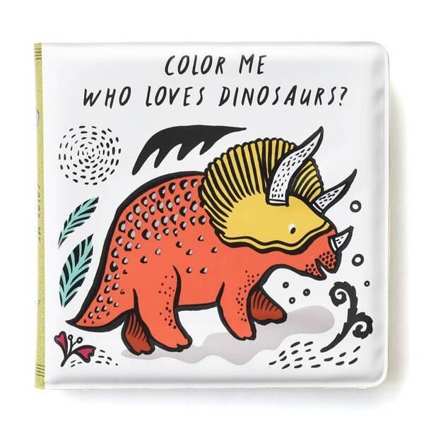 WEE GALLERY - Livre de bain à colorier - Dinosaures